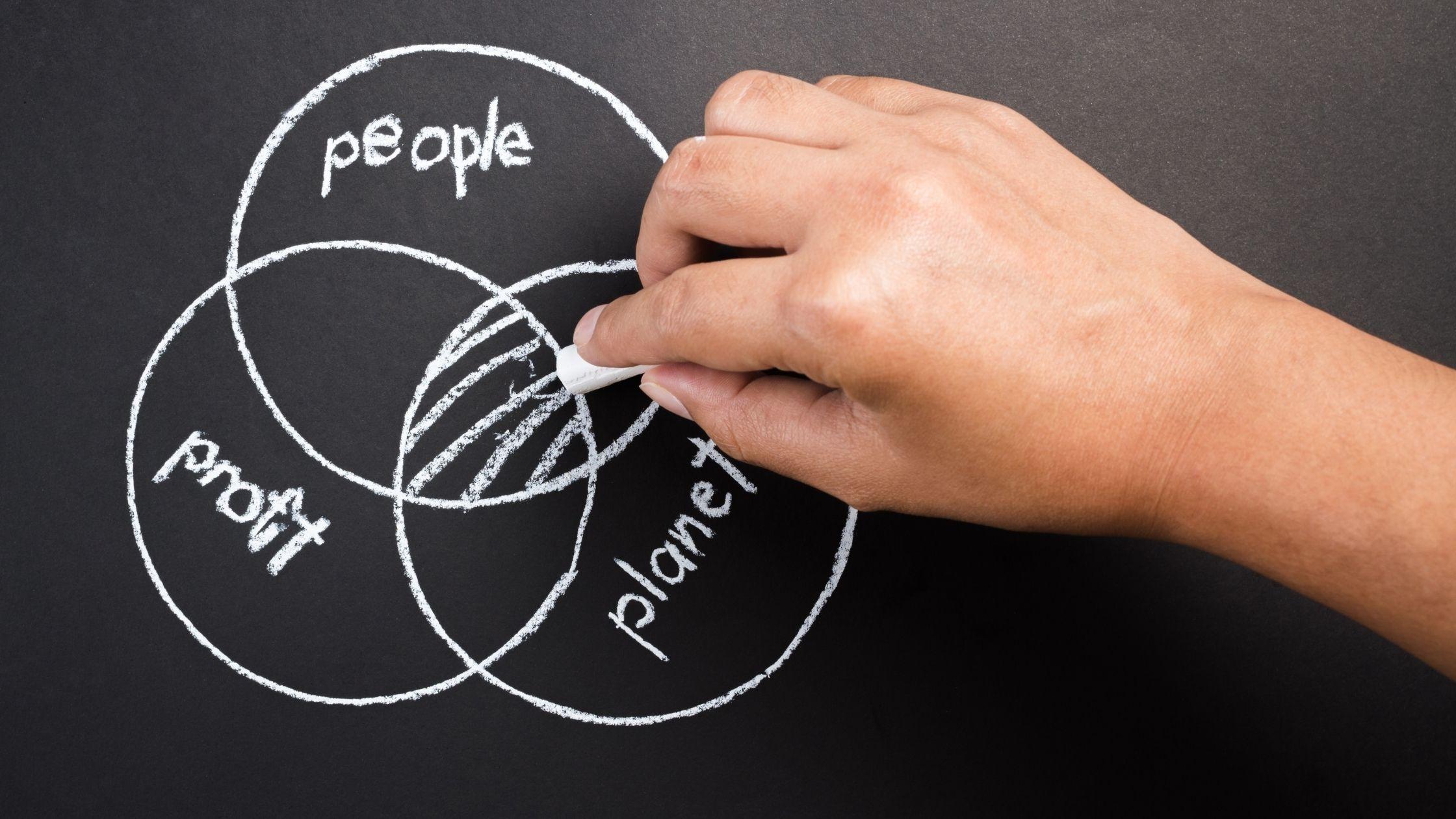 Muestra el diagrama de una empresa sustentable